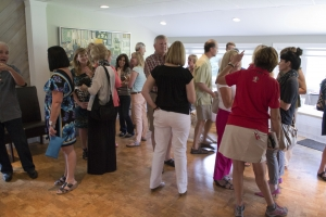 View of the mingling crowd at Rita Hartley's book launch